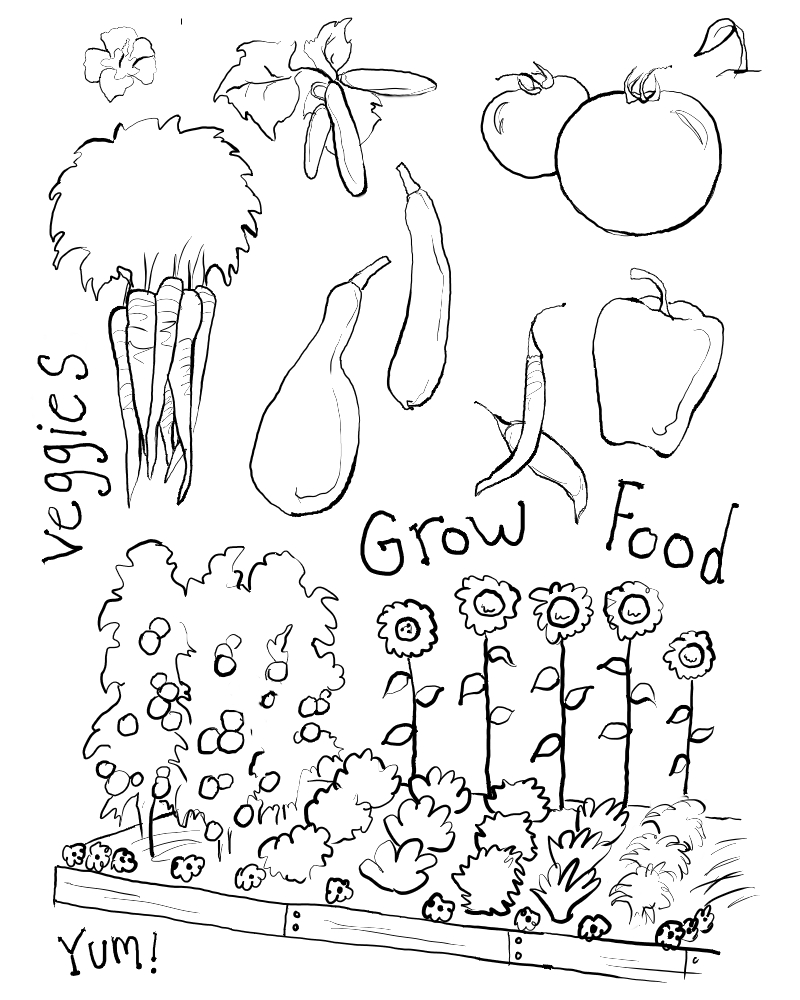 Adult Beauty Vegetable Garden Coloring Pages Images beauty vegetable garden coloring pages hicoloringpages gallery images